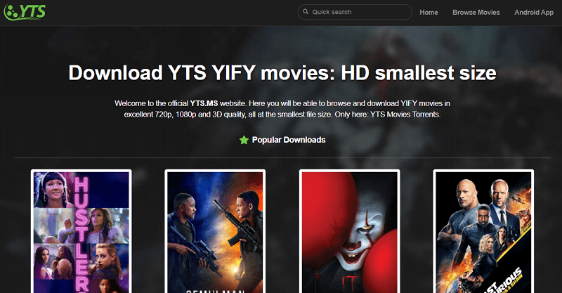 YIFY-YTS as extratorrent proxy