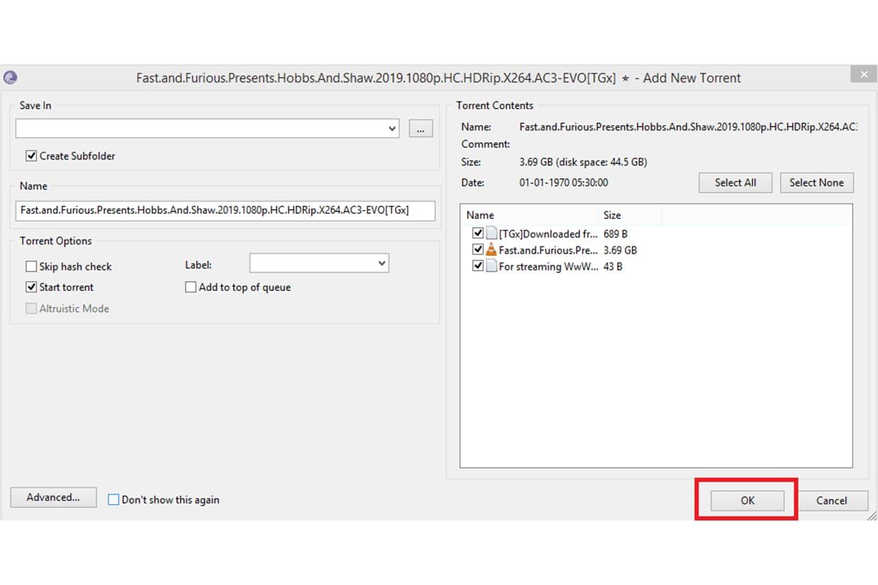 Download Torrent Using BitTorrent