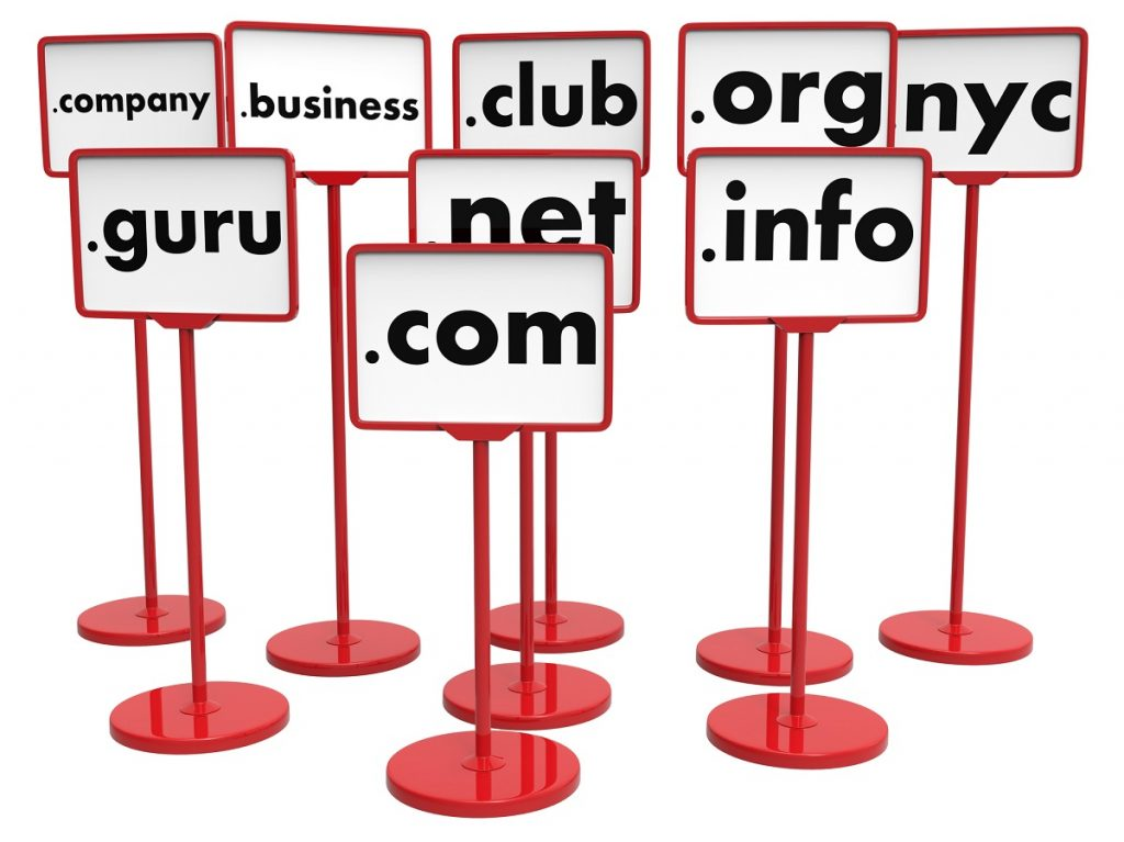 signs with top level domains