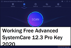 Advanced SystemCare 12.3 Serial Code