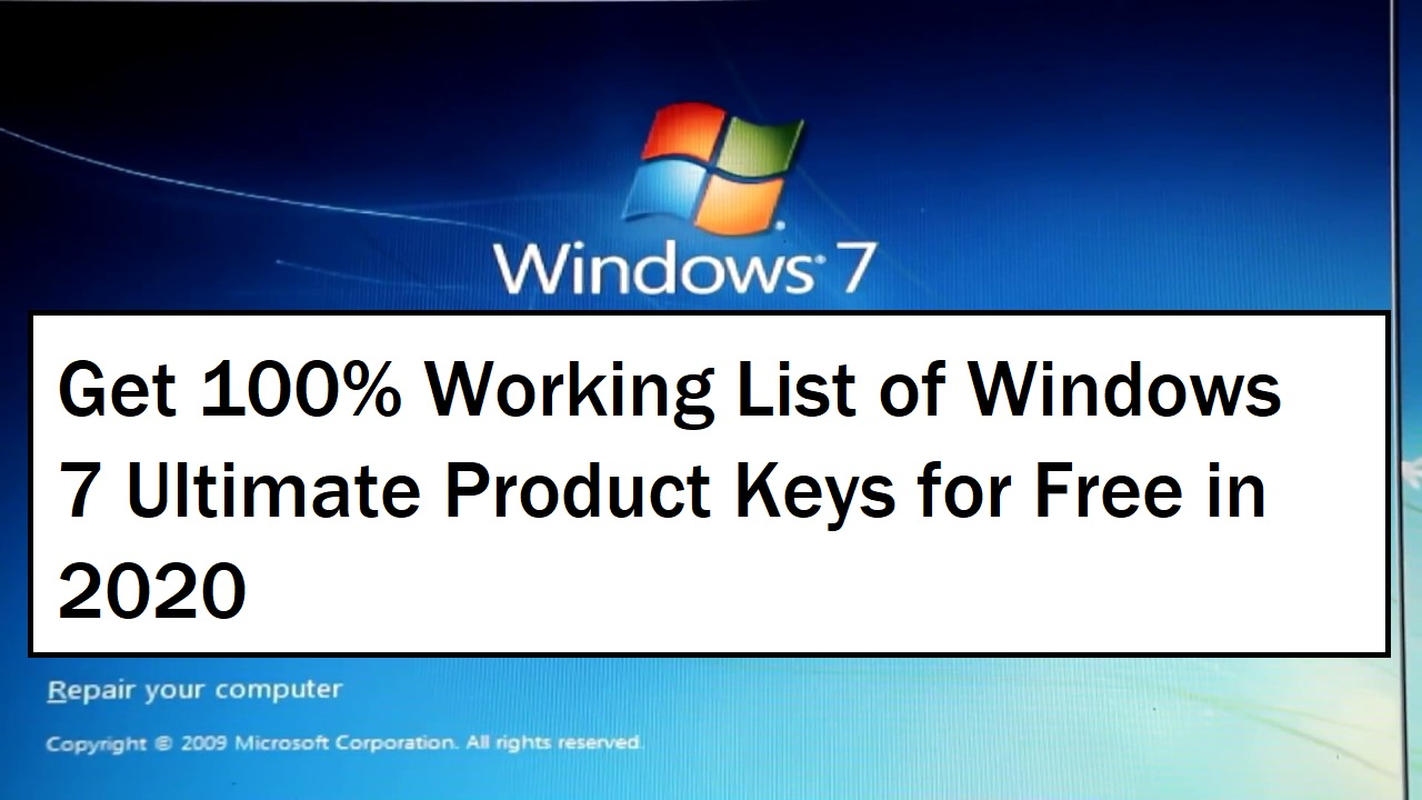 Windows 7 Ultimate Product Key 2020