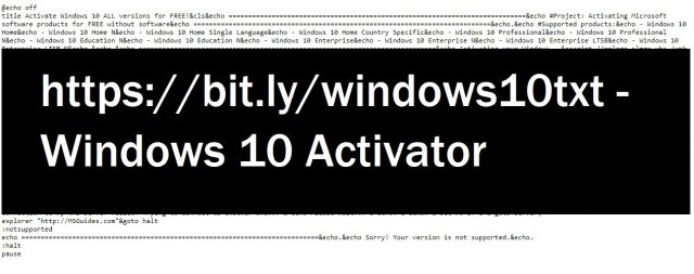 Use bit.ly/windows10txt to activate windows 10