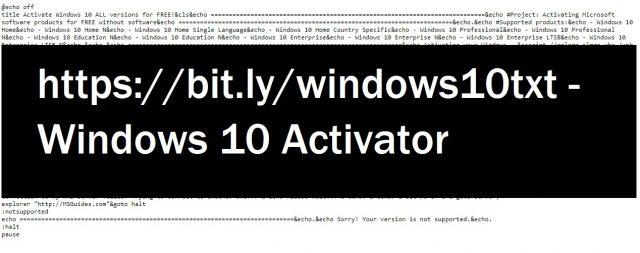 Use bit.ly/windows10txt to activate windows 10