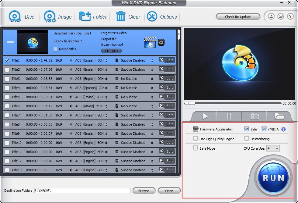 run ISO to MP4 conversion