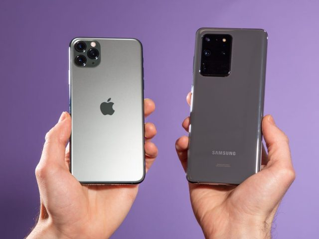 iPhone X vs Samsung S20