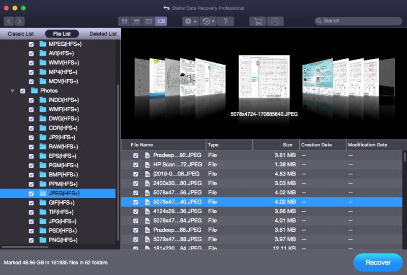 Save Destination - Stellar Mac Data Recovery