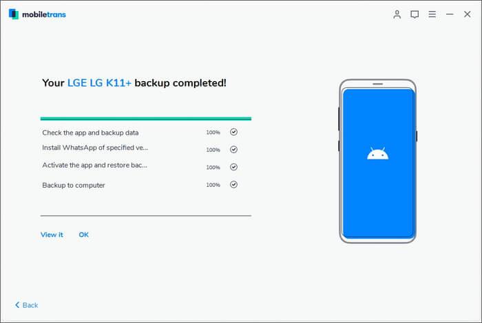 Get WhatsApp Data Backup on Mac Using MobileTrans