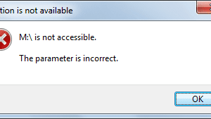Help! My External Hard Drive Shows Parameter is Incorrect-