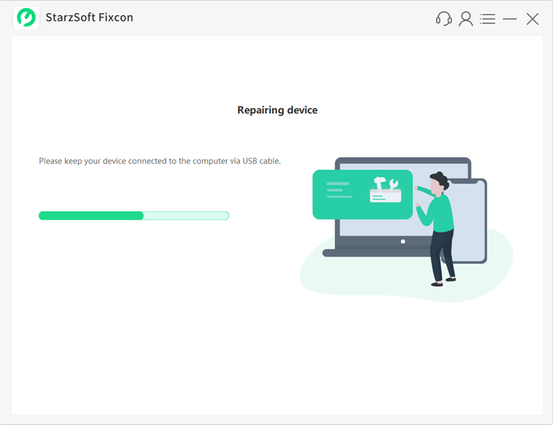 you can begin the repair process by clicking on the Continue button